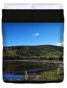 Cadillac Mountain And Lake In Acadia National Park Duvet Cover