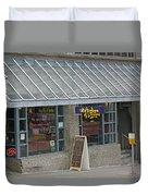Cafe Abodegas Duvet Cover