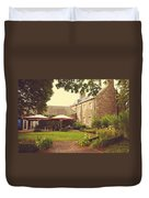 Cafe At The Palace. Edinburgh. Scotland Duvet Cover by Jenny Rainbow