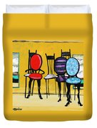 Cafe Chairs Duvet Cover