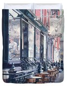 Cafe Della Pace East 7th Street New York City Duvet Cover by Anthony Butera
