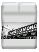 Cafe Du Monde Panoramic Picture Duvet Cover