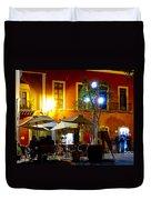 Cafe Evening Duvet Cover
