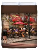Cafe - Hoboken Nj - Cafe Trinity  Duvet Cover