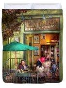 Cafe - Hoboken Nj - Empire Coffee And Tea Duvet Cover