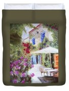 Cafe In The Spring Duvet Cover
