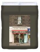 Cafe Italia Duvet Cover by Mike McGlothlen