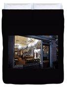 Cafe Italiano Night Usa Duvet Cover