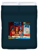 Cafe Laurier Montreal Duvet Cover