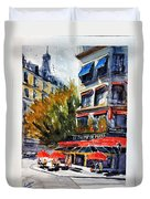 Cafe Le Champ De Mars Duvet Cover