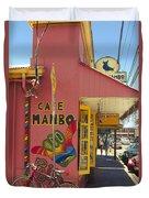 Cafe Mambo Paia Maui Hawaii Duvet Cover