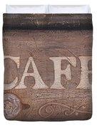 Cafe Sign Duvet Cover