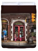 Cafe - The Italian Bakery Duvet Cover by Mike Savad