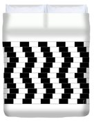 Cafe Wall Illusion Duvet Cover