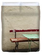 Cafeteria Duvet Cover by Margie Hurwich