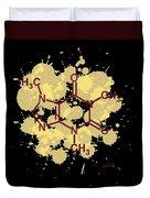Caffeine Formula Digital Art Duvet Cover