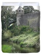 Cahir Castle Wall And River Suir Duvet Cover