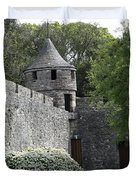 Cahir Castle Wall And Tower Duvet Cover