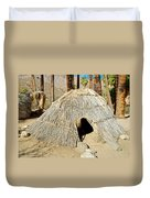 Cahuilla Indian Dwelling In Andreas Canyon In Indian Canyons-ca Duvet Cover