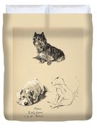 Cairn, Sealyham And Bull Terrier, 1930 Duvet Cover