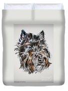 Cairn Terrier Martha Duvet Cover