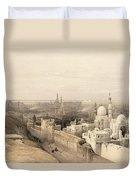 Cairo Looking West, From Egypt Duvet Cover