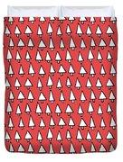 Cal Tree Red Duvet Cover
