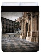 Calahorra Cathedral And Palace Duvet Cover