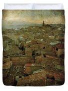 Calahorra Roofs From The Bell Tower Of Saint Andrew Church Duvet Cover