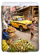 Calcutta - India Duvet Cover