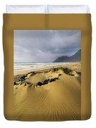 Caleta De Famara Beach On Lanzarote Duvet Cover