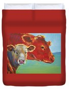 Calf And Cow Painting Duvet Cover