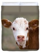 Calf Portrait Duvet Cover