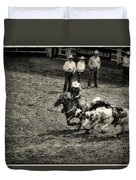 Calgary Stampede Black And White Duvet Cover