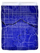 Calgary Street Map - Calgary Canada Road Map Art On Colored Back Duvet Cover
