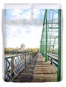 Calhoun Street Bridge Walkway Duvet Cover
