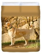 Cali Gold Duvet Cover by Bill Gallagher
