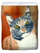 Calico Cat Duvet Cover by Karen Zuk Rosenblatt
