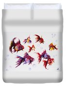 Calico Ryukin Goldfish Duvet Cover