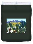 California Big Sur Flowers Duvet Cover