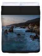 California Coast Dusk Duvet Cover