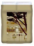 California Coastal Harbor Duvet Cover
