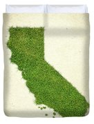 California Grass Map Duvet Cover by Aged Pixel