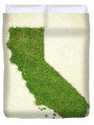 California Grass Map Duvet Cover