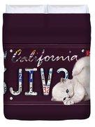California License Plate Duvet Cover