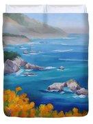 California Poppies Big Sur Duvet Cover