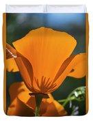 California Poppies  Eschscholzia Duvet Cover