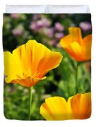 California Poppies In October Duvet Cover