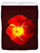 California Poppy By Nadine Johnston Duvet Cover