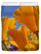 California Poppy Eschscholzia Duvet Cover by Tim Fitzharris